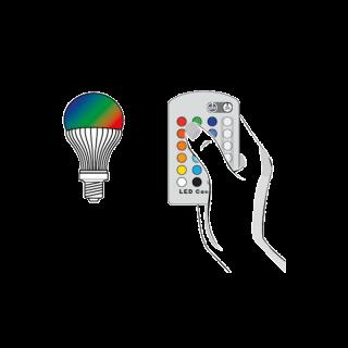 RGB led lamp control kit